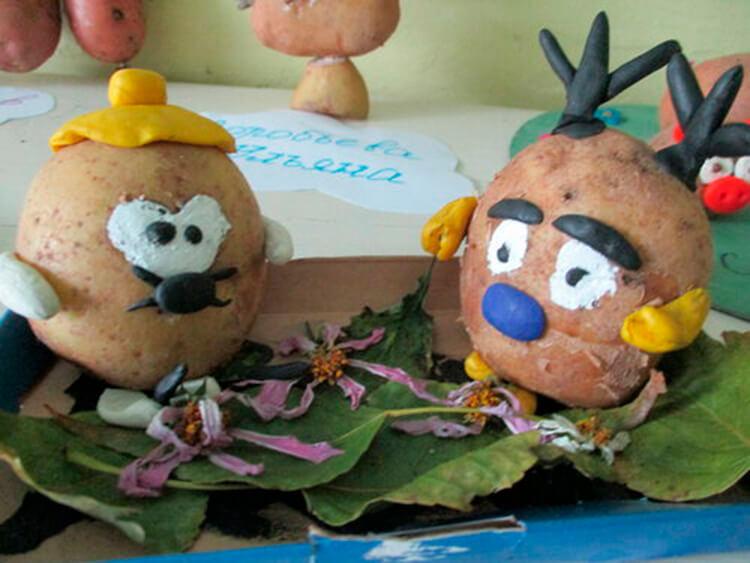 Поделки из картошки для сада и школы своими руками svoimi rukami podelki iz kartoshki 12