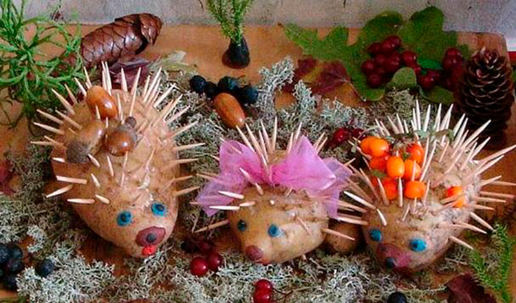 Поделки из картошки для сада и школы своими руками svoimi rukami podelki iz kartoshki 16