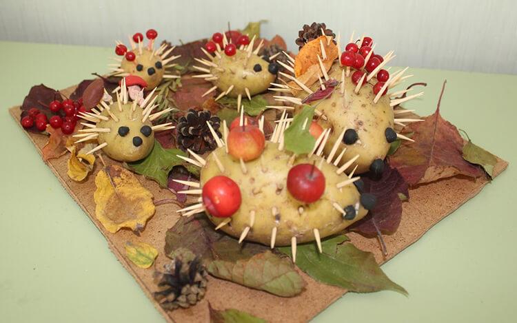 Поделки из картошки для сада и школы своими руками svoimi rukami podelki iz kartoshki 17