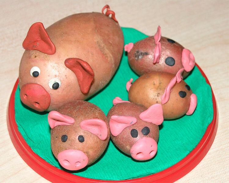 Поделки из картошки для сада и школы своими руками svoimi rukami podelki iz kartoshki 3