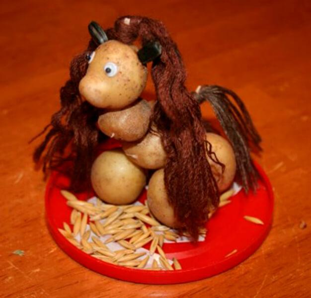 Поделки из картошки для сада и школы своими руками svoimi rukami podelki iz kartoshki 32