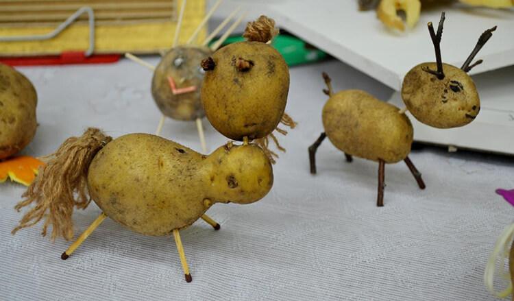 Поделки из картошки для сада и школы своими руками svoimi rukami podelki iz kartoshki 34