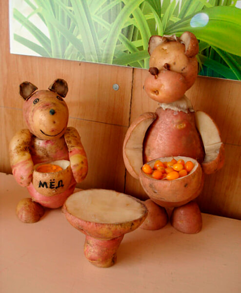 Поделки из картошки для сада и школы своими руками svoimi rukami podelki iz kartoshki 38