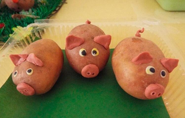 Поделки из картошки для сада и школы своими руками svoimi rukami podelki iz kartoshki 4