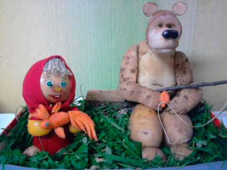 Поделки из картошки для сада и школы своими руками svoimi rukami podelki iz kartoshki 40