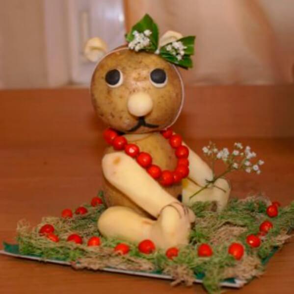Поделки из картошки для сада и школы своими руками svoimi rukami podelki iz kartoshki 53