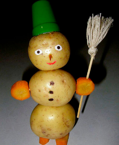 Поделки из картошки для сада и школы своими руками svoimi rukami podelki iz kartoshki 9