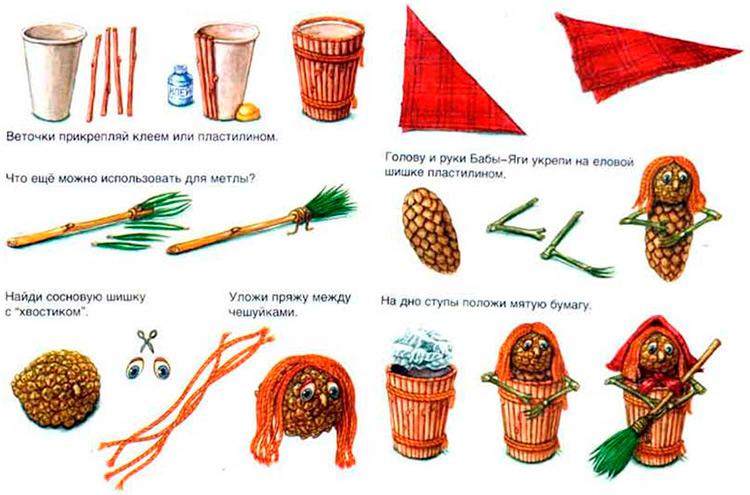 Различные поделки из природного материала в школу и садик 2 3