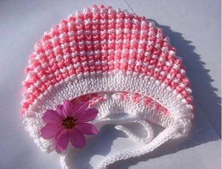 Чепчик для новорожденного: красивый головной убор спицами chepchik dlya novorozhdennogo spicami 12