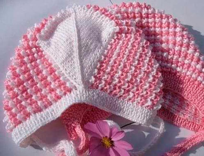 Чепчик для новорожденного: красивый головной убор спицами chepchik dlya novorozhdennogo spicami 14