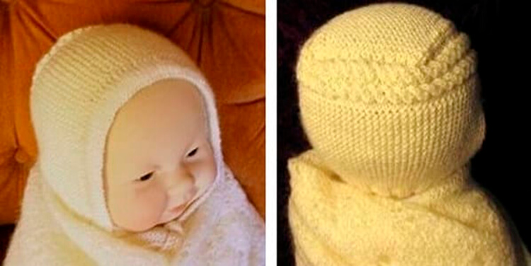 Чепчик для новорожденного: красивый головной убор спицами chepchik dlya novorozhdennogo spicami 18