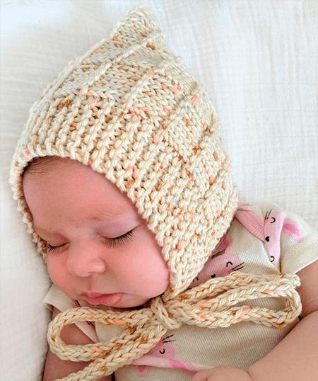 Чепчик для новорожденного: красивый головной убор спицами chepchik dlya novorozhdennogo spicami 26