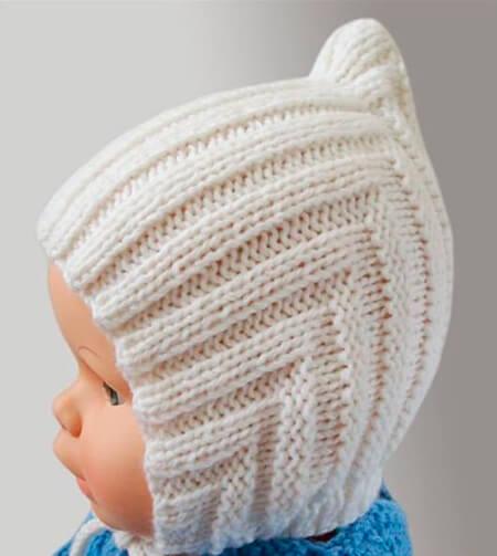 Чепчик для новорожденного: красивый головной убор спицами chepchik dlya novorozhdennogo spicami 27