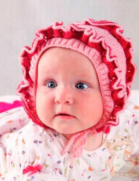 Чепчик для новорожденного: красивый головной убор спицами chepchik dlya novorozhdennogo spicami 28