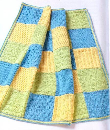 Теплое и красивое одеяло спицами для новорожденных detskoe odeyalo dlya novorozhdennogo spicami 17
