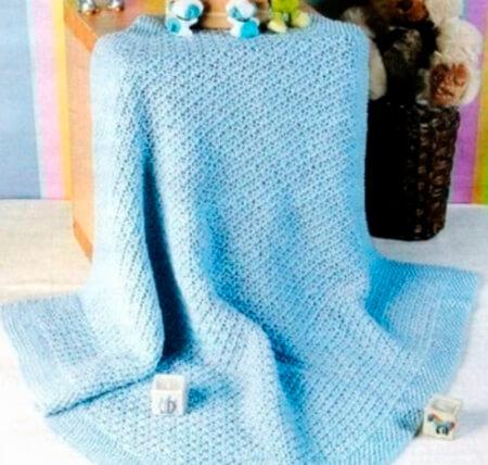 Теплое и красивое одеяло спицами для новорожденных detskoe odeyalo dlya novorozhdennogo spicami 2