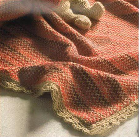 Теплое и красивое одеяло спицами для новорожденных detskoe odeyalo dlya novorozhdennogo spicami 21
