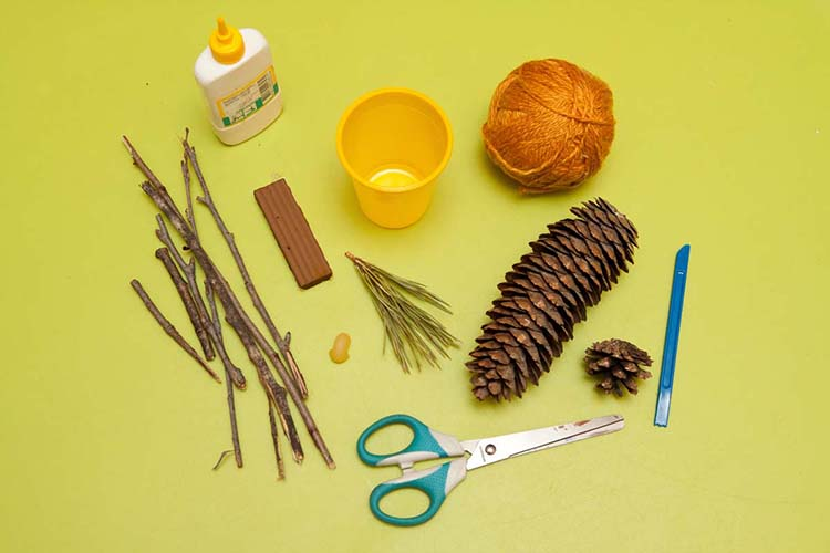Различные поделки из природного материала в школу и садик osennie podelki iz prirodnogo materiala 4