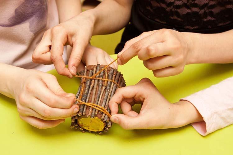 Различные поделки из природного материала в школу и садик osennie podelki iz prirodnogo materiala 5