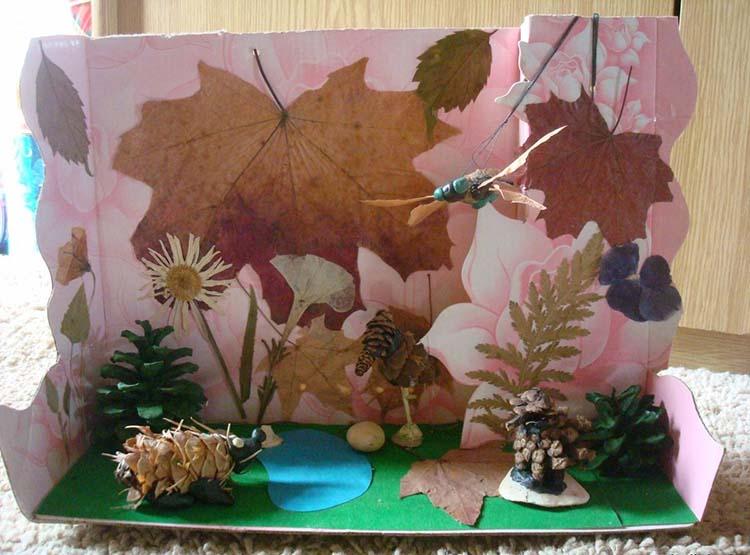 Различные поделки из природного материала в школу и садик osennie podelki iz prirodnogo materiala 98
