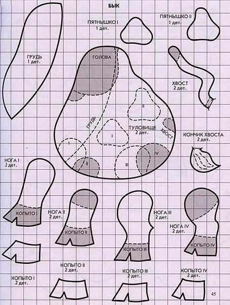 Символ года 2021: как сделать быка в качестве новогоднего подарка simvol 2021 goda svoimi rukami 111
