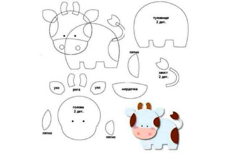 Символ года 2021: как сделать быка в качестве новогоднего подарка simvol 2021 goda svoimi rukami 113