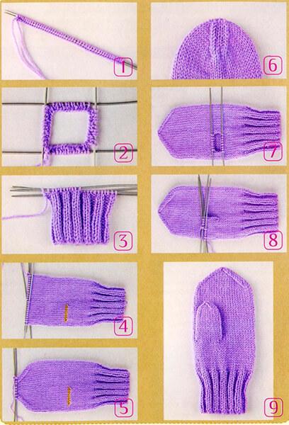 Красивые варежки для девочки спицами: защищаем ручки зимой varezhki spicami dlya devochki 52 1