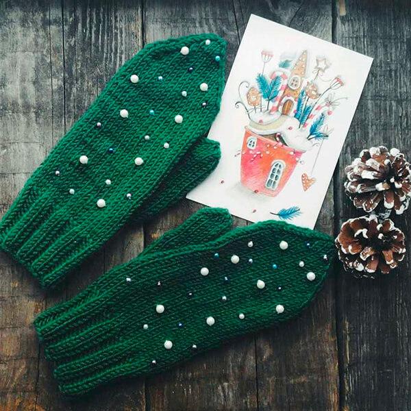Красивые варежки для девочки спицами: защищаем ручки зимой varezhki spicami dlya devochki 54 1