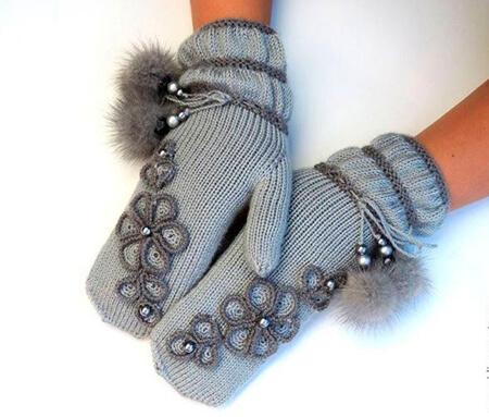 Красивые варежки для девочки спицами: защищаем ручки зимой varezhki spicami dlya devochki 57 1