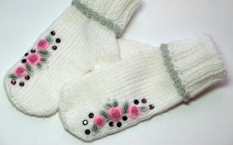 Красивые варежки для девочки спицами: защищаем ручки зимой varezhki spicami dlya devochki 58