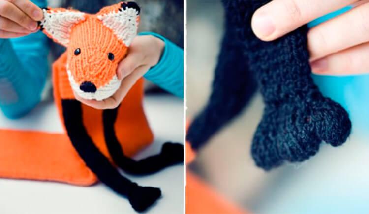 Красивый детский шарф спицами: защищаем горло ребенка в холода 31 32