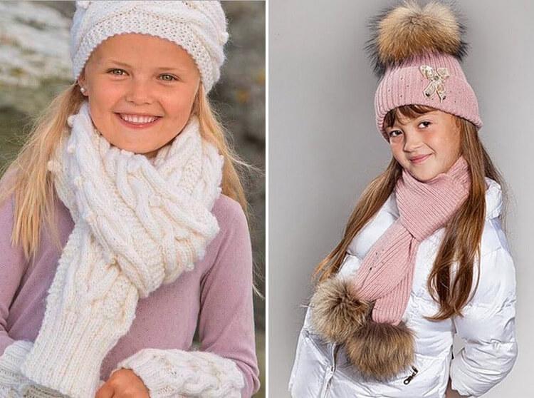 Красивый детский шарф спицами: защищаем горло ребенка в холода 45 46