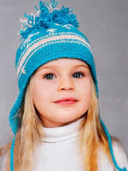 Красивые шапки для девочки: вяжем спицами на зиму shapka spicami dlya devochki 23