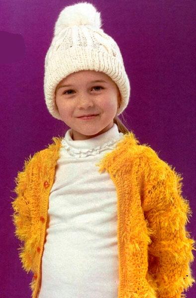 Красивые шапки для девочки: вяжем спицами на зиму shapka spicami dlya devochki 26