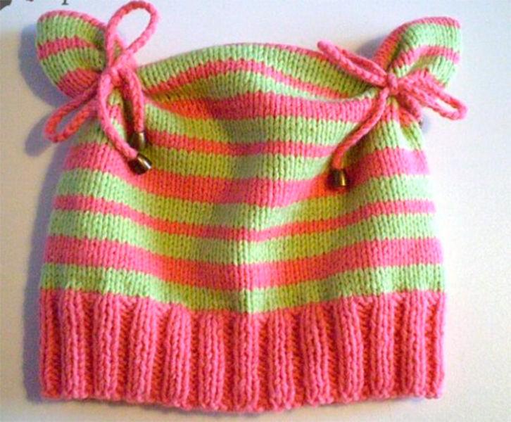 Красивые шапки для девочки: вяжем спицами на зиму shapka spicami dlya devochki 39