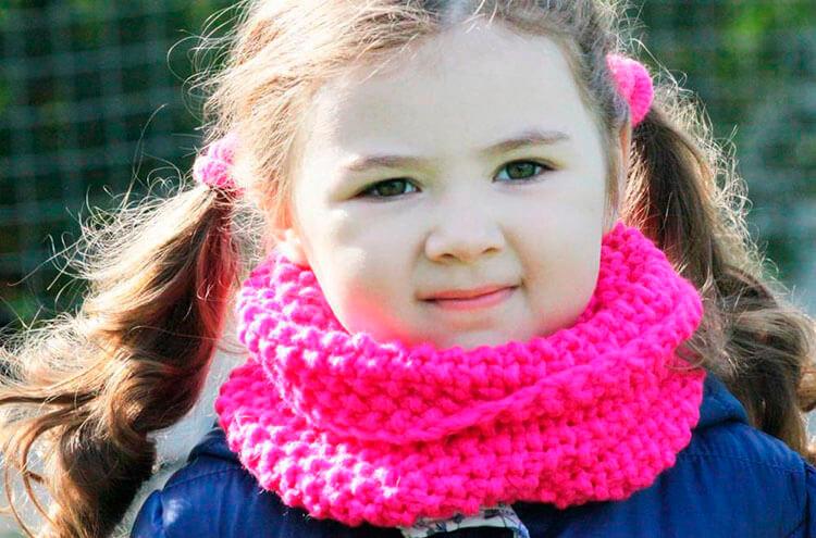 Красивый детский шарф спицами: защищаем горло ребенка в холода sharf detskij spicami 1