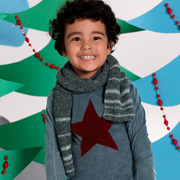 Красивый детский шарф спицами: защищаем горло ребенка в холода sharf detskij spicami 10
