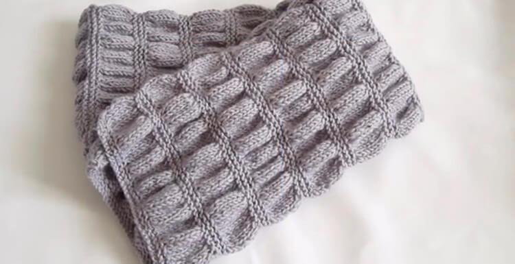 Красивый детский шарф спицами: защищаем горло ребенка в холода sharf detskij spicami 11