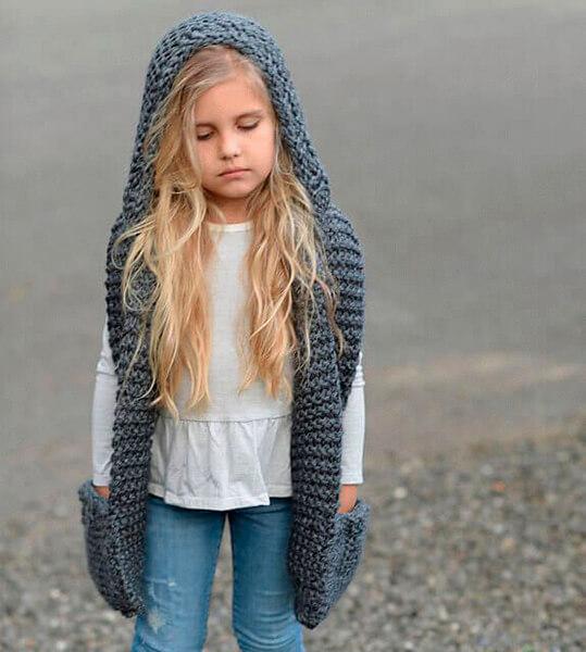 Красивый детский шарф спицами: защищаем горло ребенка в холода sharf detskij spicami 33