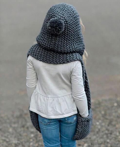 Красивый детский шарф спицами: защищаем горло ребенка в холода sharf detskij spicami 34