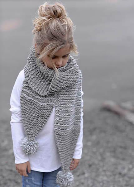 Красивый детский шарф спицами: защищаем горло ребенка в холода sharf detskij spicami 36