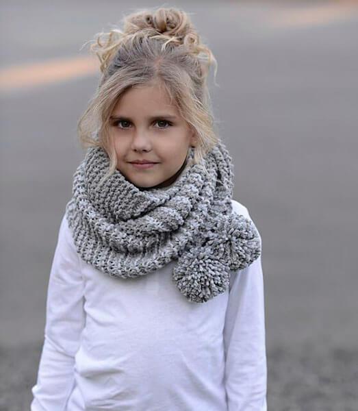Красивый детский шарф спицами: защищаем горло ребенка в холода sharf detskij spicami 37