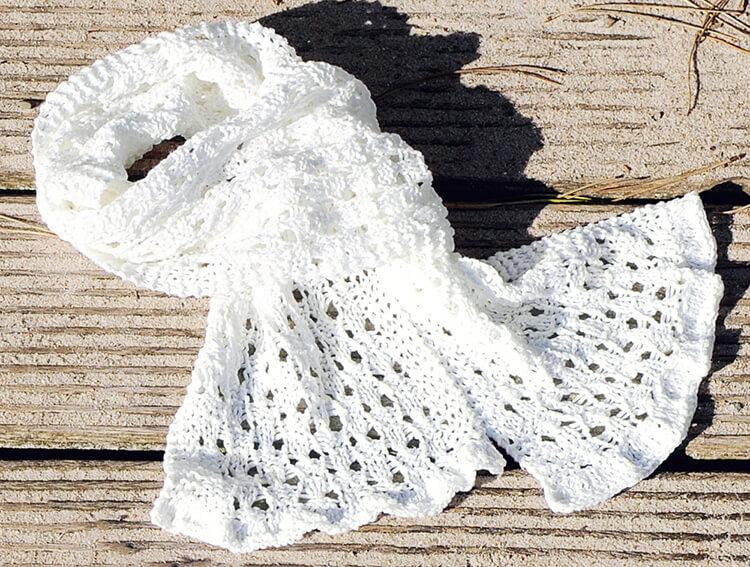 Красивый детский шарф спицами: защищаем горло ребенка в холода sharf detskij spicami 40