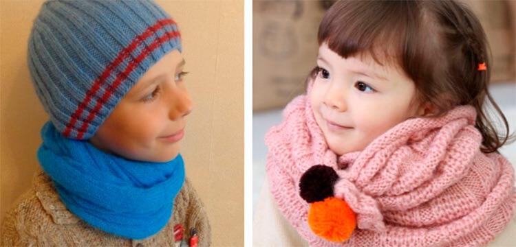 Красивый детский шарф спицами: защищаем горло ребенка в холода sharf detskij spicami 47