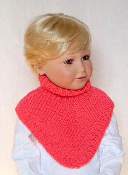 Красивый детский шарф спицами: защищаем горло ребенка в холода sharf detskij spicami 51