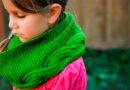 Шарф-снуд для девочки спицами: вяжем красивый аксессуар на зиму