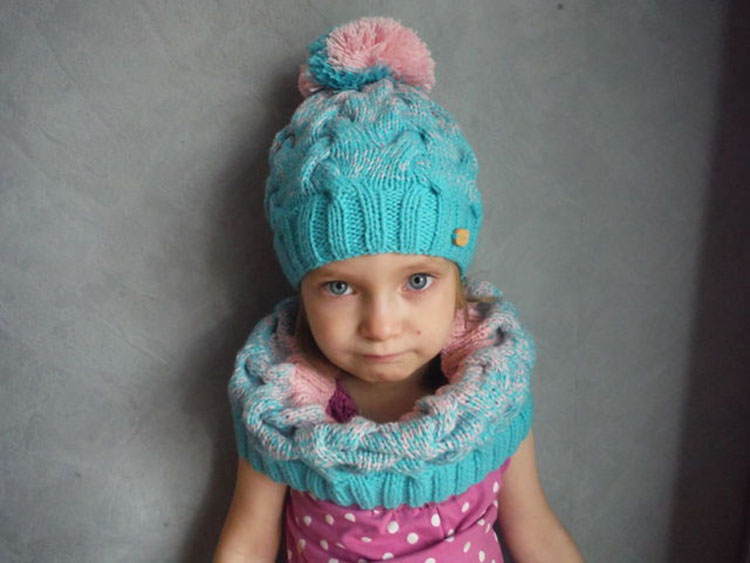 Шарф снуд для девочки спицами: вяжем красивый аксессуар на зиму snud spicami dlya devochki 6