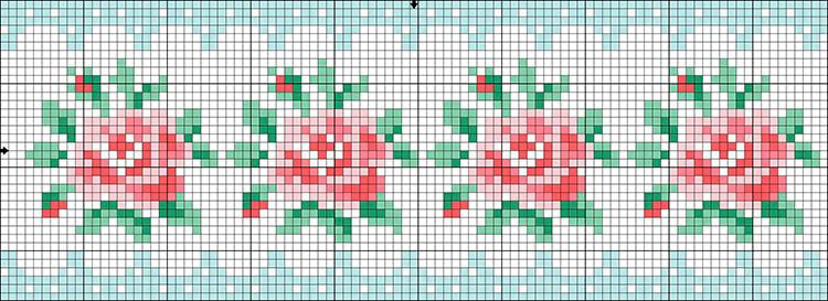 Красивые узоры спицами в технике Жаккард: схемы вязания vyazanie zhakkardovyh uzorov spicami 104 1