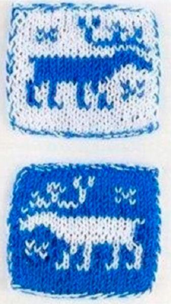 Красивые узоры спицами в технике Жаккард: схемы вязания vyazanie zhakkardovyh uzorov spicami 11 1