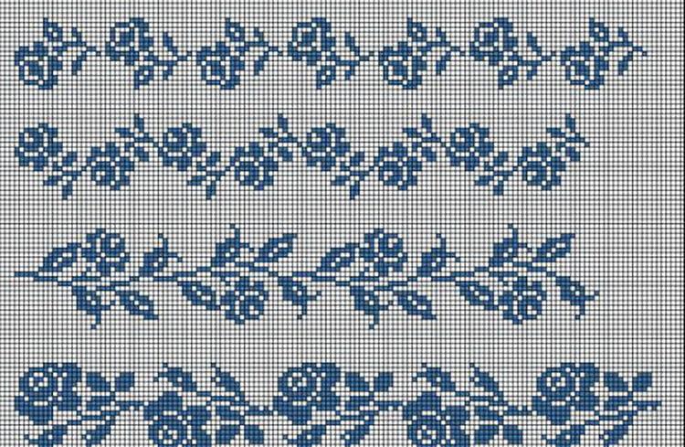 Красивые узоры спицами в технике Жаккард: схемы вязания vyazanie zhakkardovyh uzorov spicami 114 1
